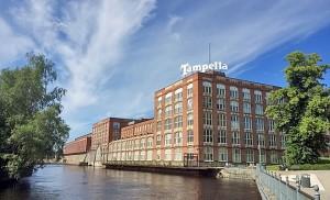 Tampella ja Tammerkoski - Tampella at the banks of Tammerkoski Rapids