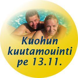 Kangasalan Uimahallin kuutamouinti 2015