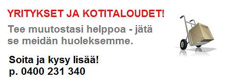 Muutot yksityisille ja yrityksille Tampereen seudulla!