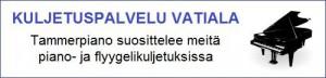 Pianon ja flyygelin kuljetus - Tampere ja Kangasala