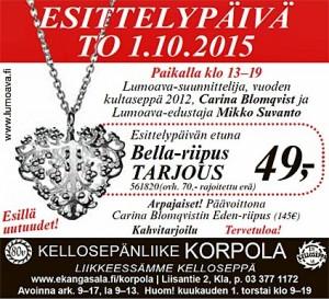 Kellosepänliike Korpola - Esittelypäivä 1.10.2015